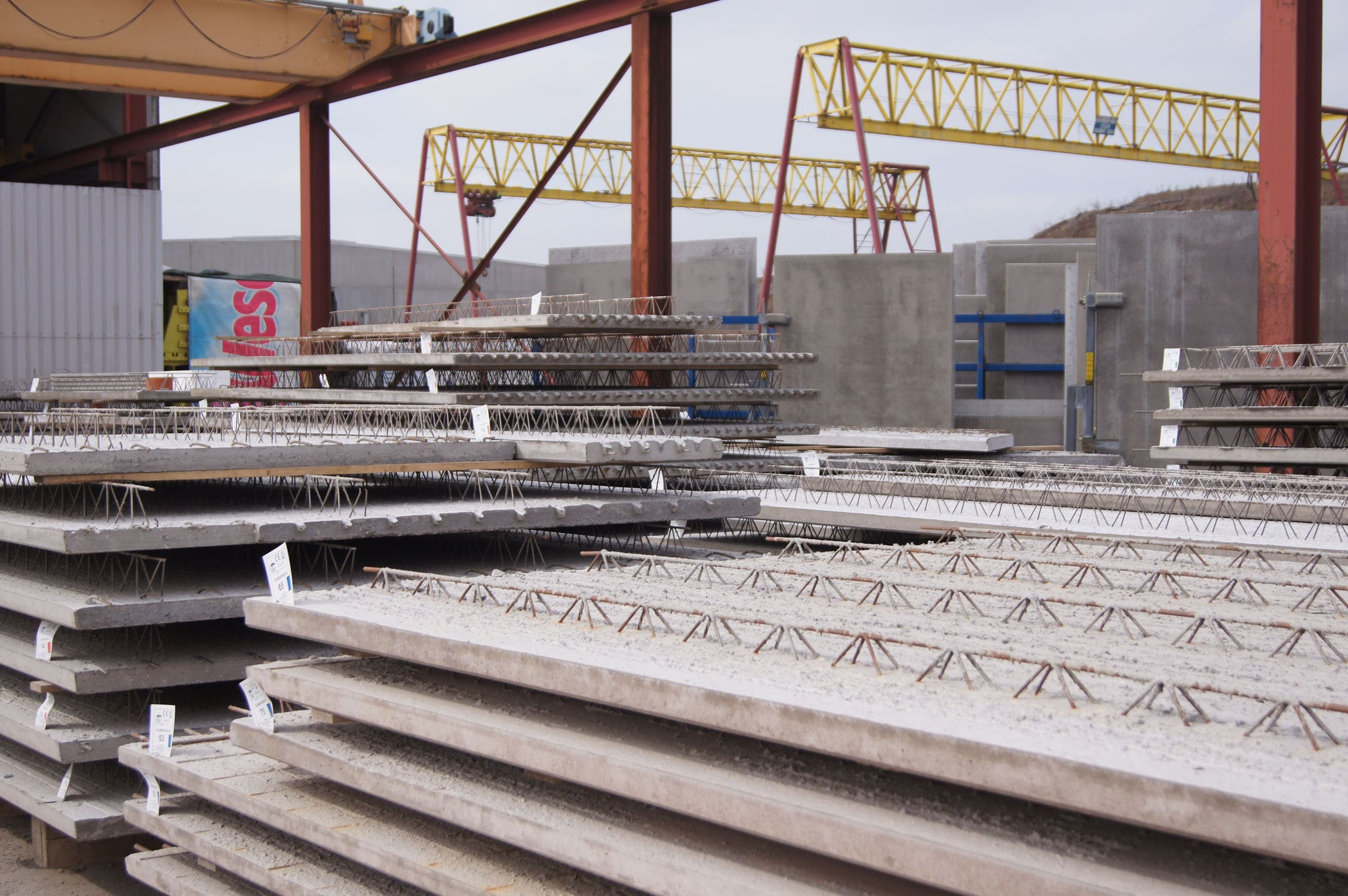 High Quality ... Concrete Pre Slab / Reinforced / With Integrated Piping Option ...