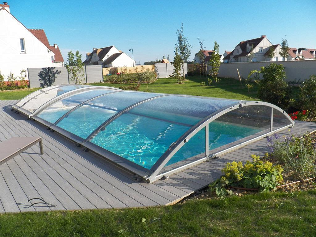 Low swimming pool enclosure sliding aluminum manual STAR