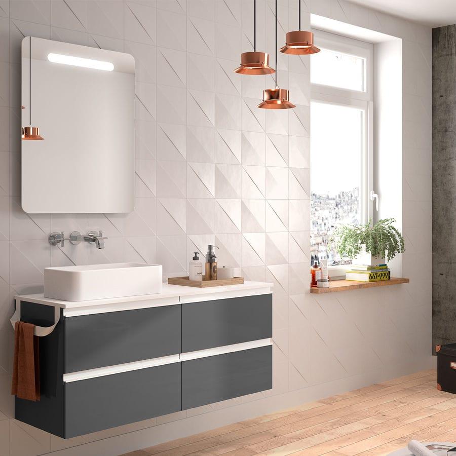 Wall Hung Washbasin Cabinet / Laminate / Contemporary / With Mirror    SPIRIT 1200