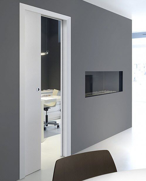 Sliding Door Pocket System   BRICK WALL : SINGLE OPENING