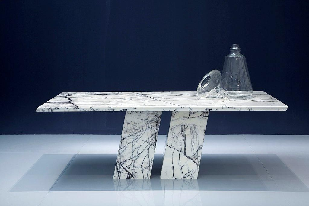 Contemporary Dining Table / Marble / Rectangular   ERMES