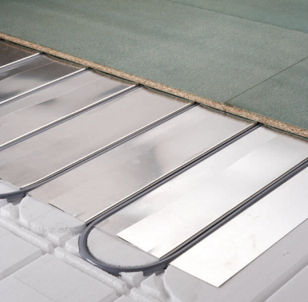 Thermal Insulation Expanded Polystyrene For Underfloor Heating - Under floorboard heating