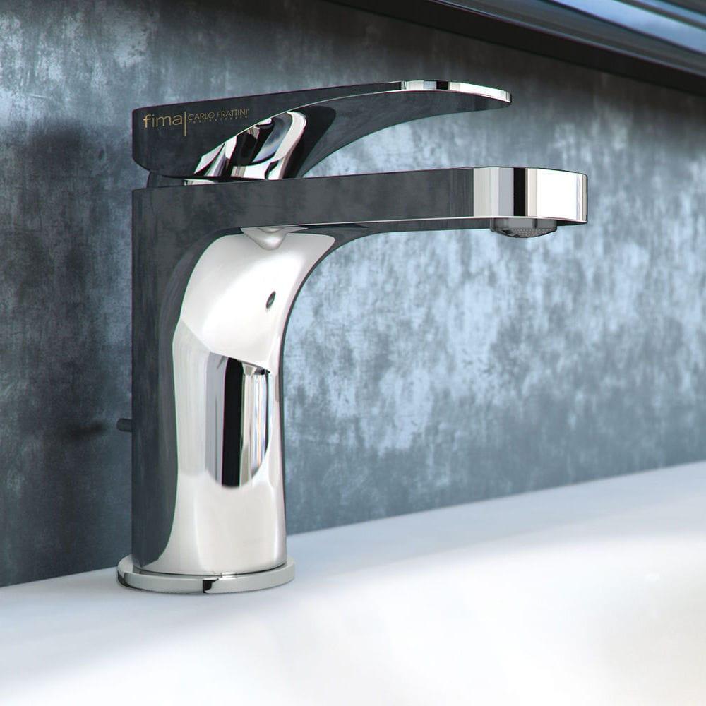 Washbasin mixer tap / chromed metal / bathroom / 1-hole - F3721 ...