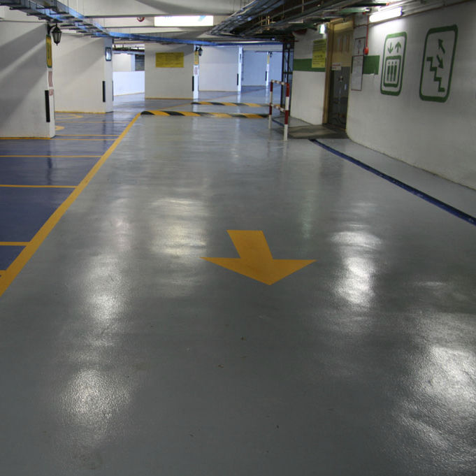 Epoxy Resin Flooring / For Parking Lots / Waxed Concrete Look