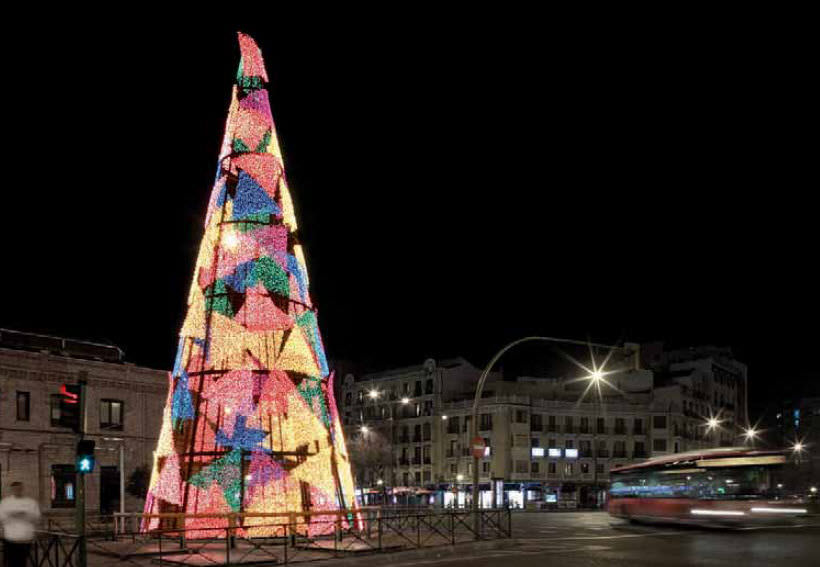 3d motif light for public spaces led special cone shape christmas trees