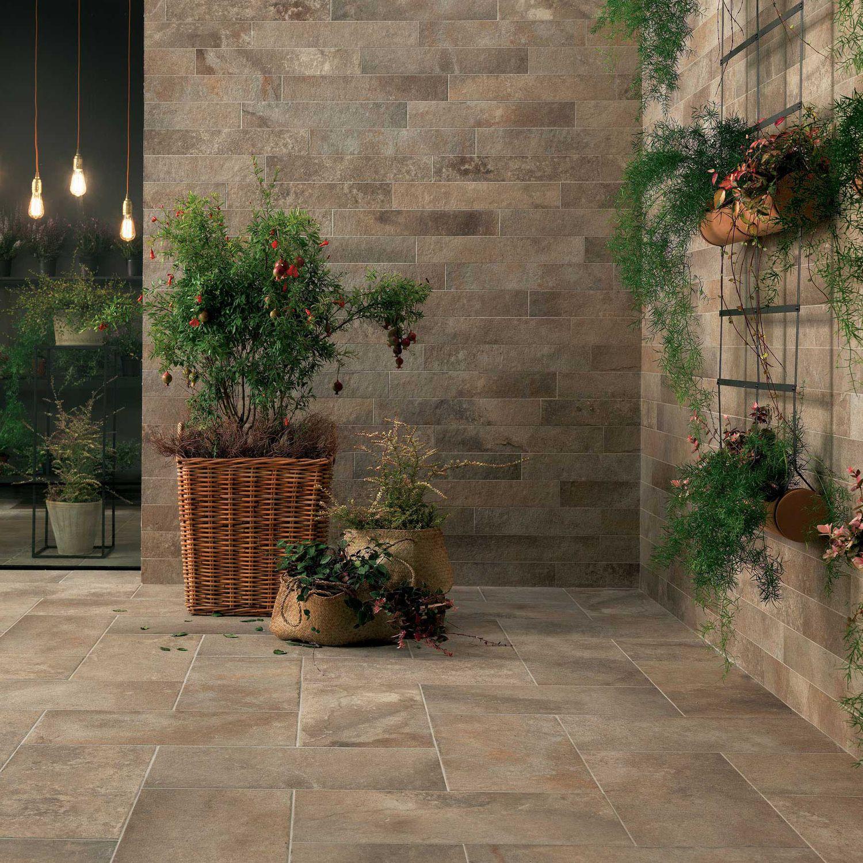 Exterior tile / wall / floor / porcelain stoneware - GEO : SABLÉ ...