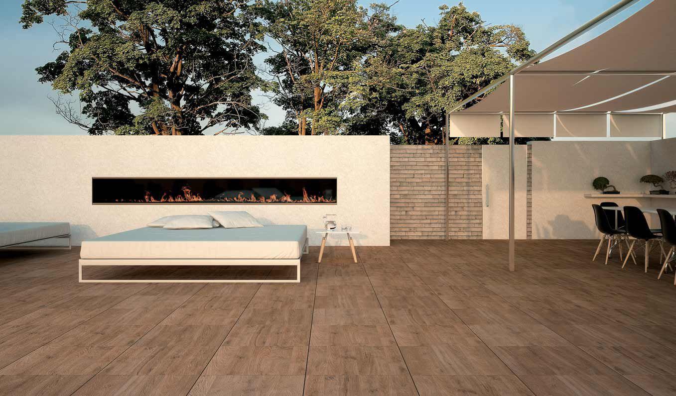 Outdoor tile / for floors / porcelain stoneware / polished - SUNDECK ...