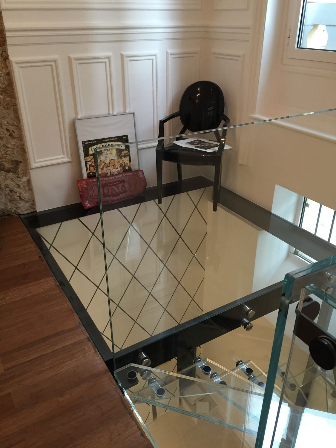 Steel raised access floor / glass / indoor / outdoor - SOL VERRE ...