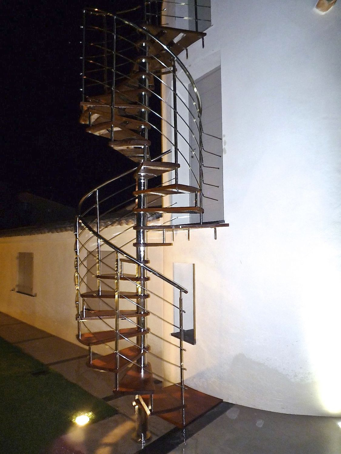 Spiral Staircase / Helical / Circular / Stainless Steel Frame   SPIRO QUADRO