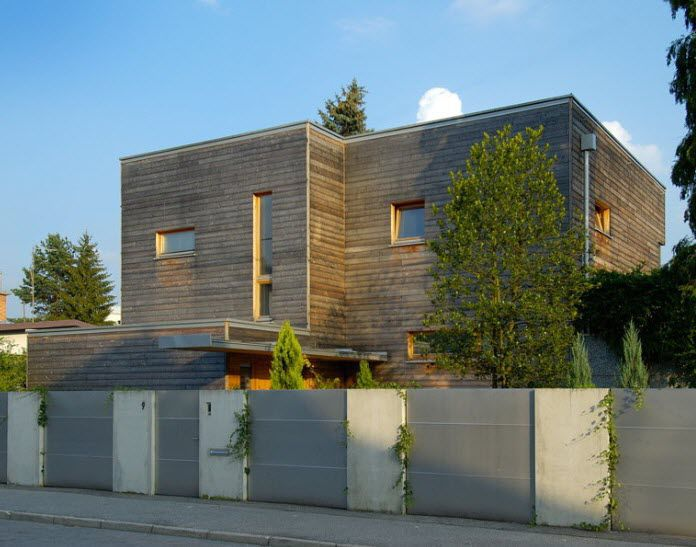 Prefab House Contemporary Solid Wood Two Story Minimalist By