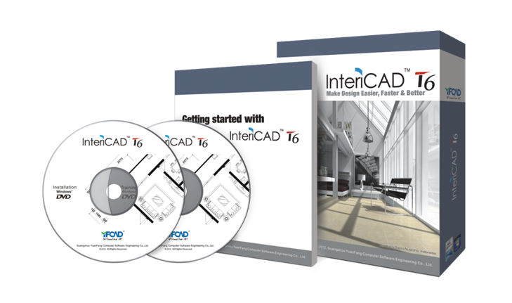 Interior Design Software CAD For Concrete Structures INTERICAD T6 YUAN FANG