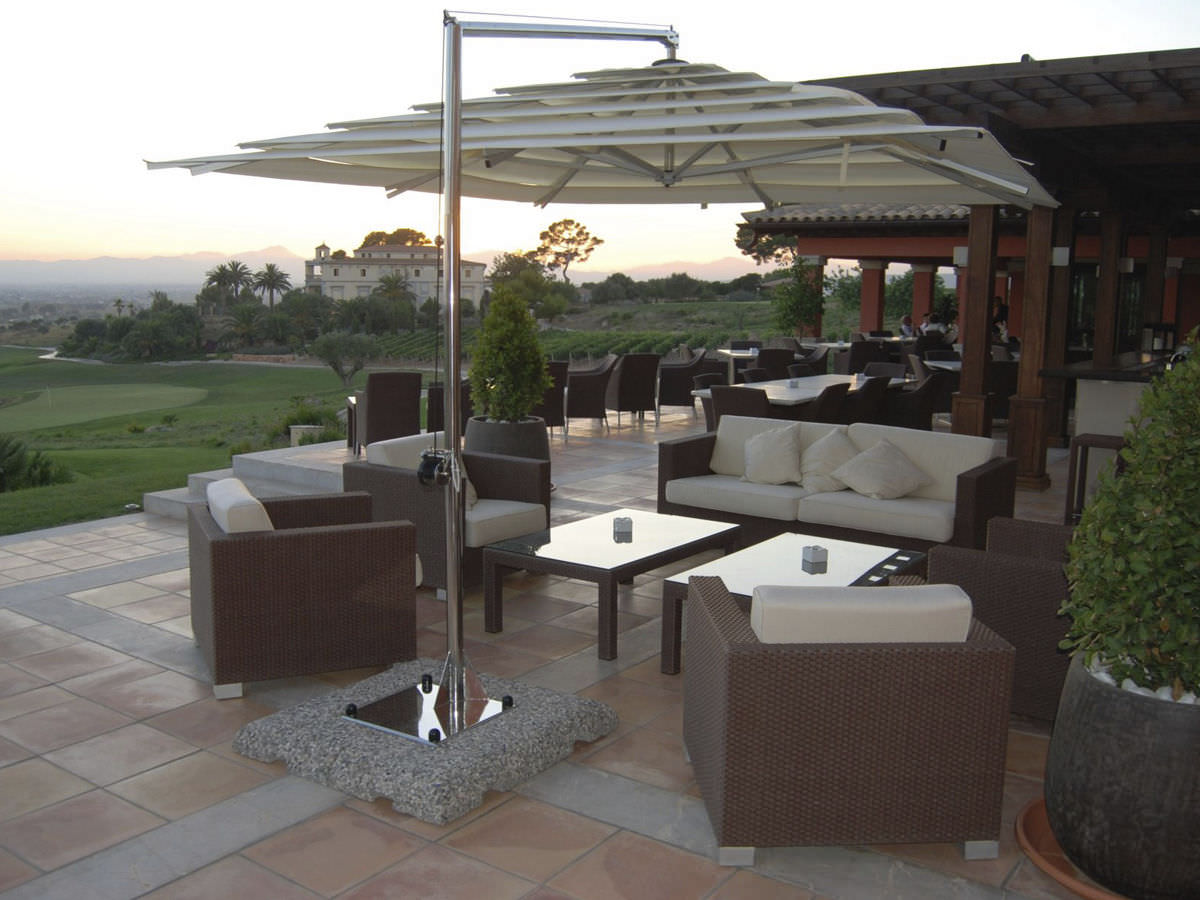 umbrellas patio rectangular decor umbrella great furniture patioliving offset concept