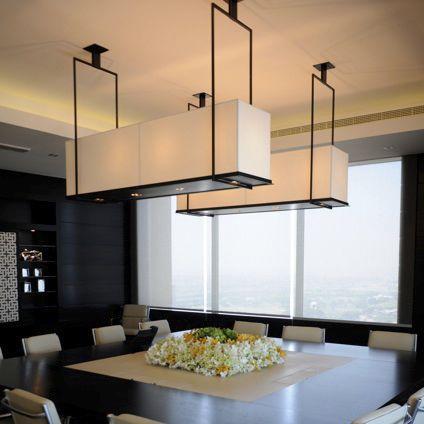 contemporary ceiling light / rectangular / steel / LED - TIPPETT & Contemporary ceiling light / rectangular / steel / LED - TIPPETT ...