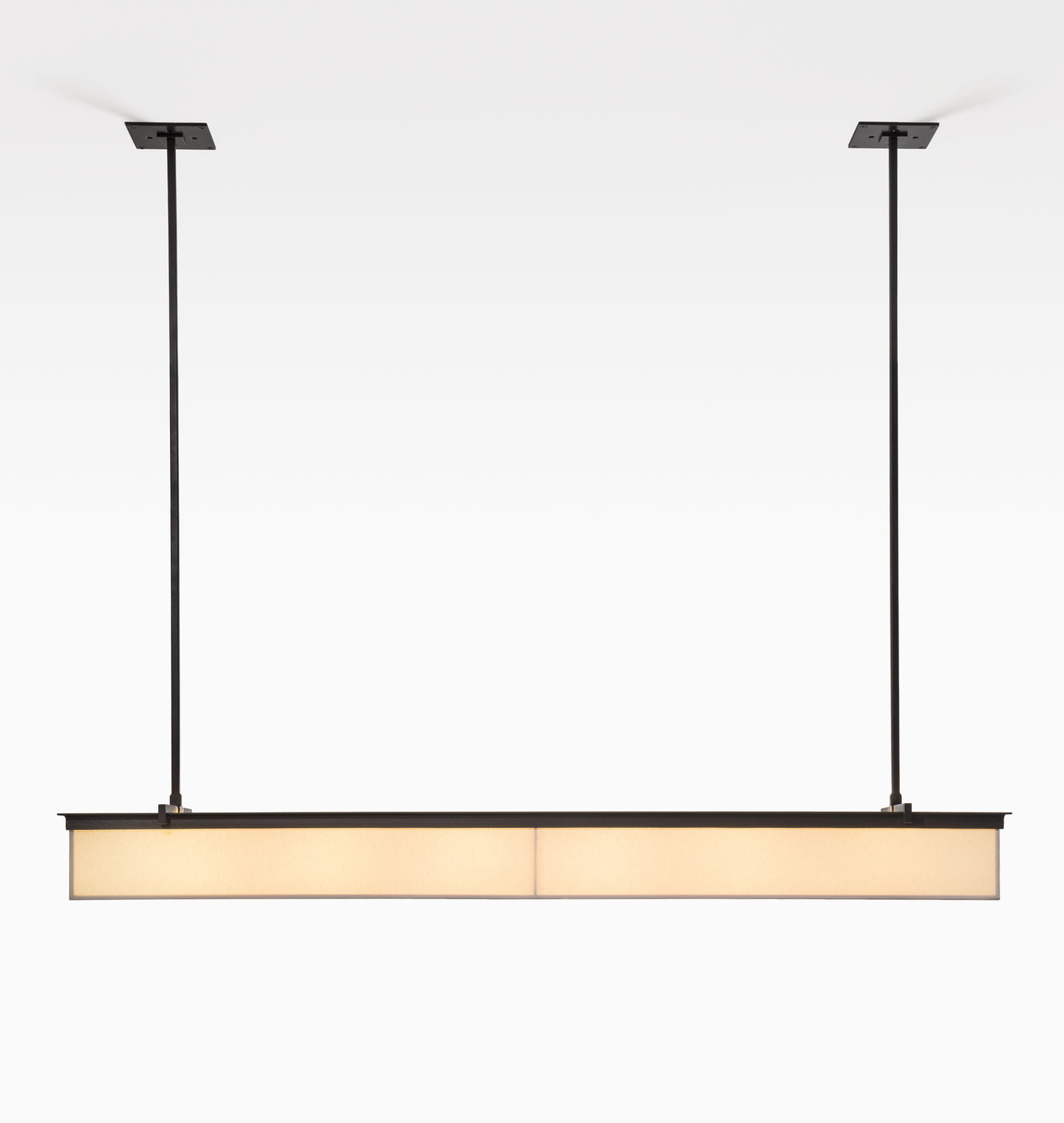 Contemporary ceiling light rectangular Japanese paper LED