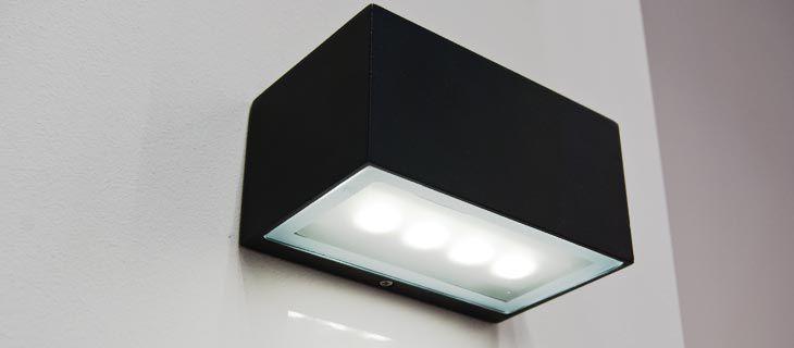 contemporary wall light / outdoor / cast aluminum / fluorescent ... & Contemporary wall light / outdoor / cast aluminum / fluorescent ...