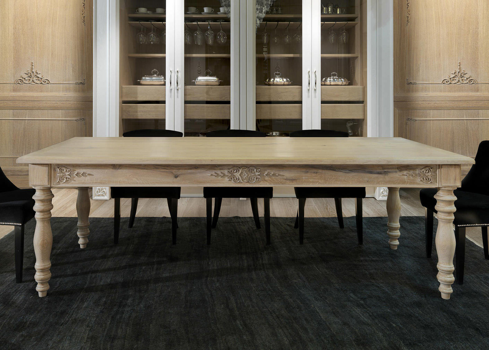 Traditional Dining Table / Wooden / Rectangular
