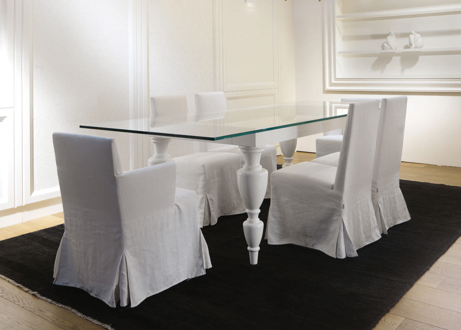 Tavolo Rettangolare In Vetro.Contemporary Table Glass Rectangular Castagna Cucine