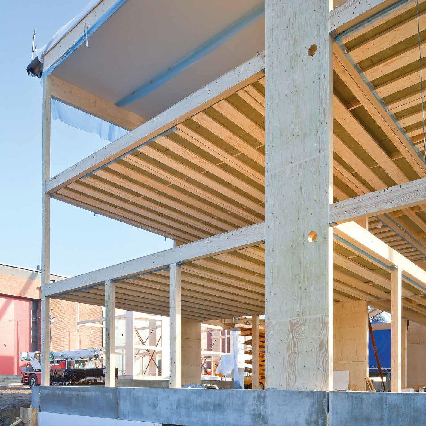 Construction panel / structural / wood / for floors - KERTO-Q