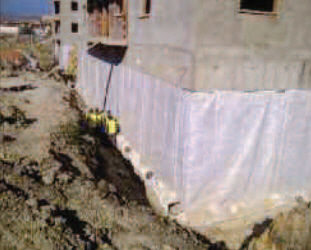 Drainage Waterproofing Membrane For Retaining Walls Roll Composite Teradrain Bat Fde Fdep