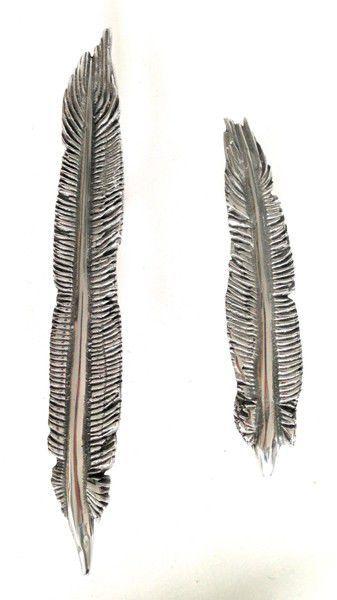 pull handle design. door pull handle / brass aluminum bronze - feather long design