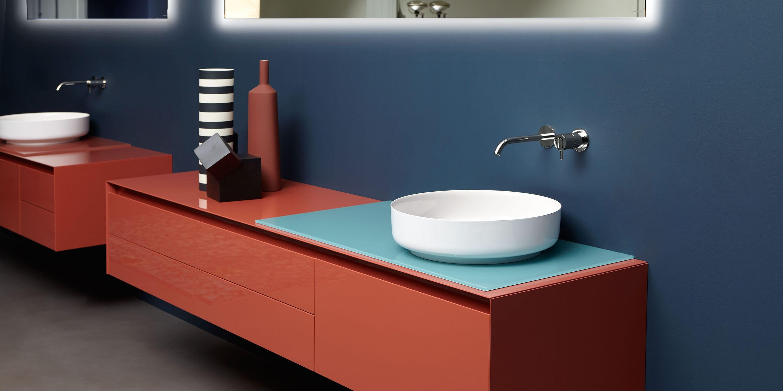 Countertop washbasin / square / composite / contemporary - BOLO by ...