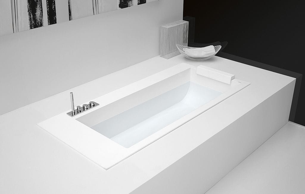 High Quality Free Standing Bathtub / Built In / Corian® / With Integrated Cupboards    BIBLIO