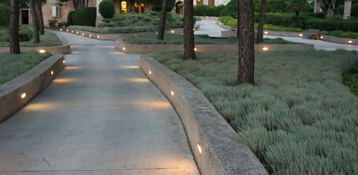 recessed wall light fixture led rectangular outdoor ext03020