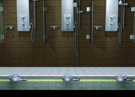 Stainless steel floor drain / for showers / square - ULTRAFLAT - KESSEL
