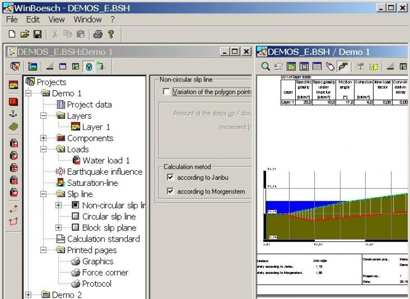 Geotechnical Calculation Software For Steel Structures Winbösch