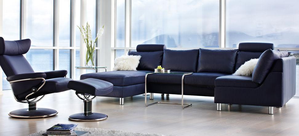 Corner Sofa / Bed / Contemporary / Leather   E200