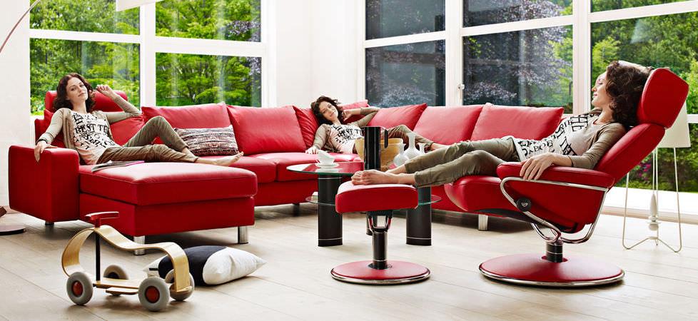 ... Corner sofa / bed / contemporary / leather E200 Ekornes
