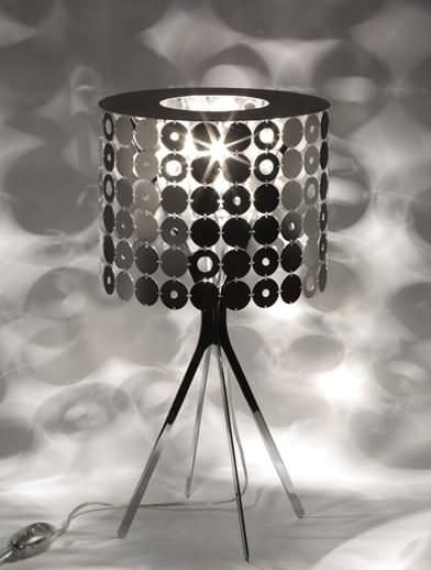 Table Lamp Contemporary Polished Stainless Steel Brushed