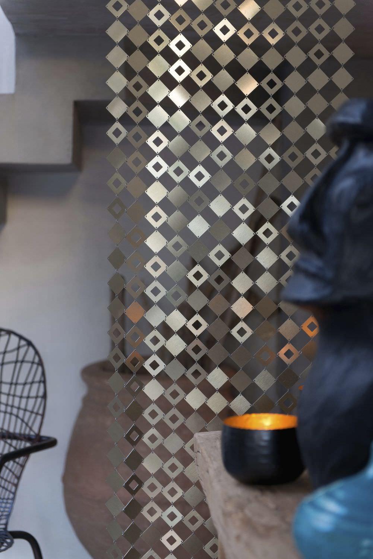 Geometric Curtain / Metal / Stainless Steel   IPANEMA