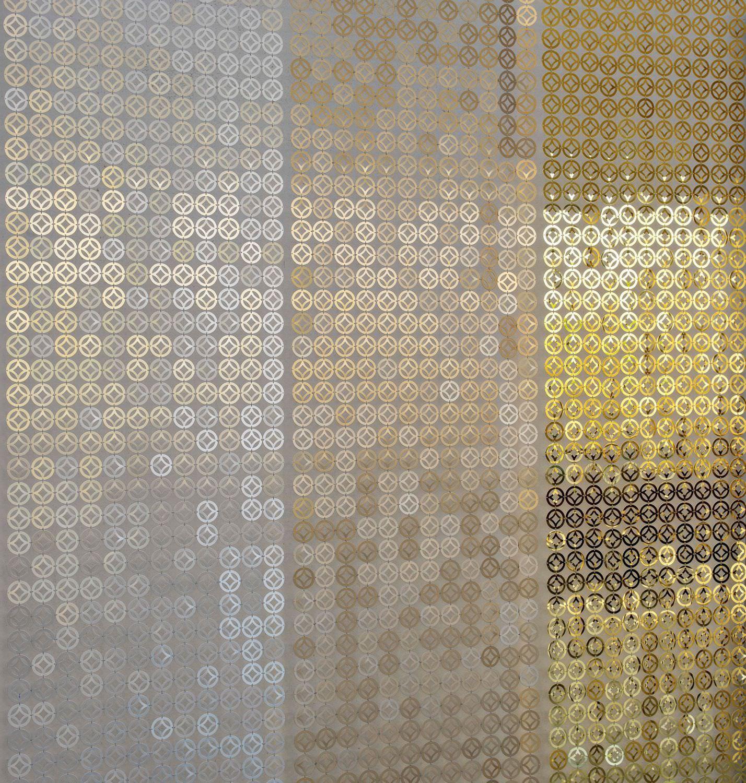 Geometric Curtain / Metal / Stainless Steel   BUBBLE ARABIC