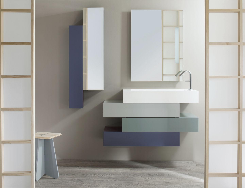 Wood Veneer For Cabinets Wall Hung Washbasin Cabinet Wood Veneer Design With Mirror