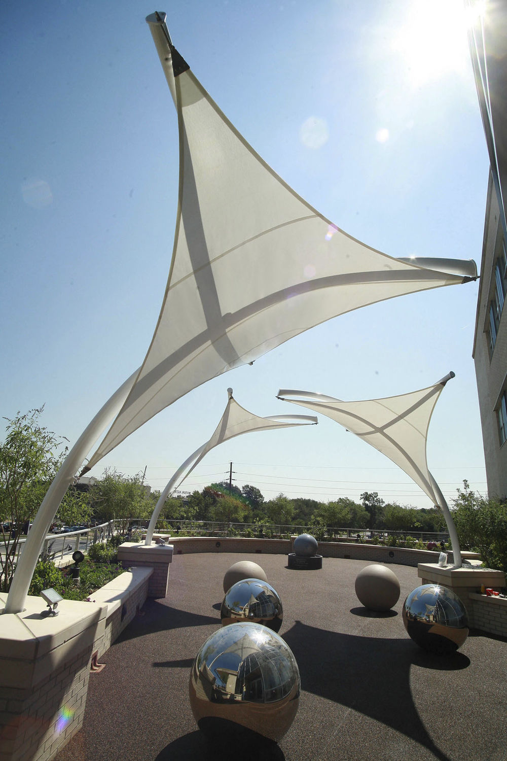 ... Tensile canopy / metal frame supported / for entrance canopies / with PVC membrane SKYLAR Fabric ... & Tensile canopy / metal frame supported / for entrance canopies ...