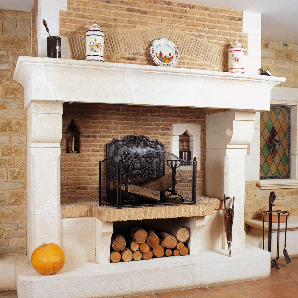 Gas Fireplace Wood Burning Traditional Open Hearth Figeac