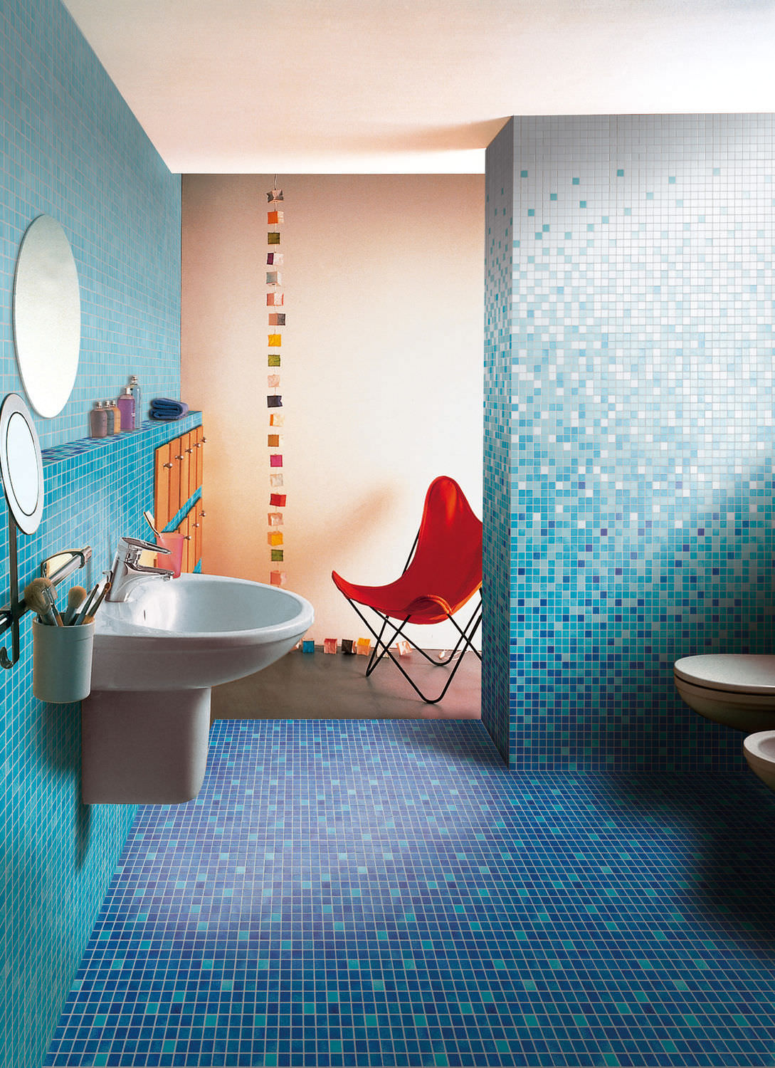 Indoor mosaic tile / bathroom / floor / ceramic - MAZURKA - EMAUX DE ...