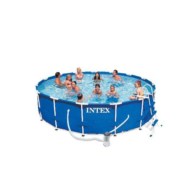 Above-ground swimming pool / polyester / tubular / outdoor - 28233 ...