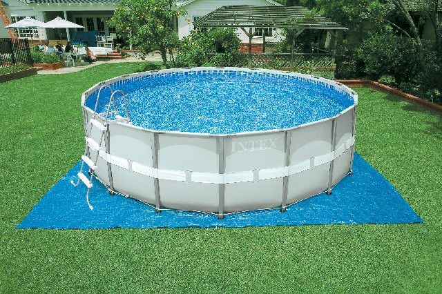 Above-ground swimming pool / steel / wall / outdoor - 28326 - INTEX