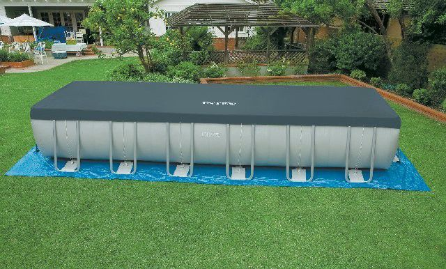 Above-ground swimming pool / polyester / tubular / outdoor - 28361 ...