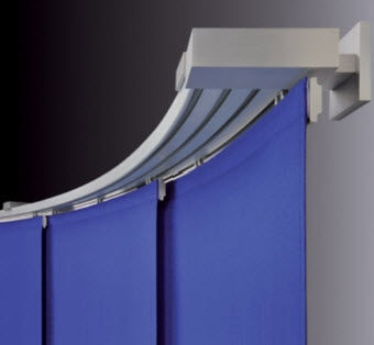 Manual Curtain Track Wall Mounted For Panel Curtains Domestic Use