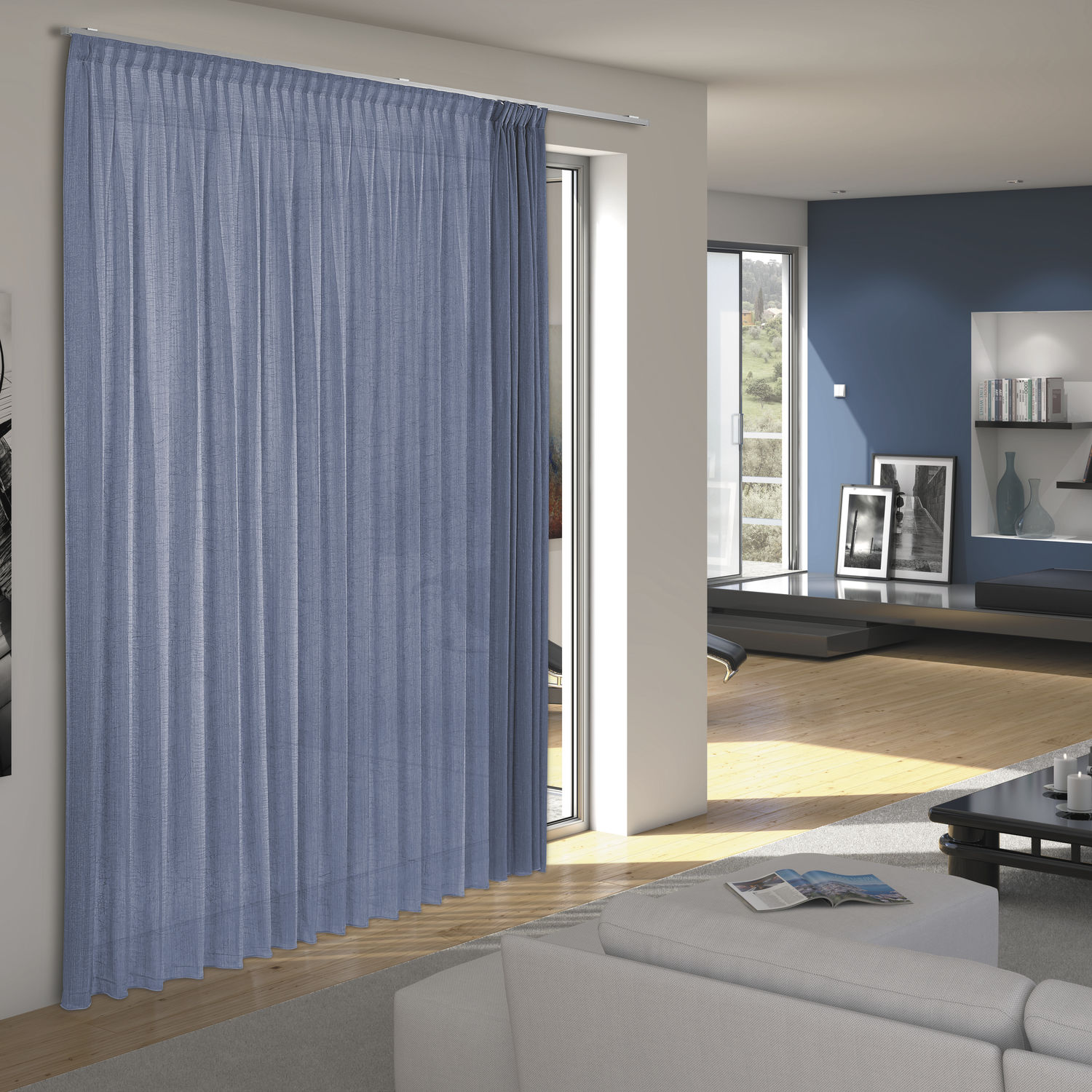 Wall mounted curtain track   manual   for drapes   window   KUADRO. Wall mounted curtain track   manual   for drapes   window   KUADRO