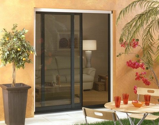 Fixed Insect Screen / Sliding / Roll Up / For French Doors