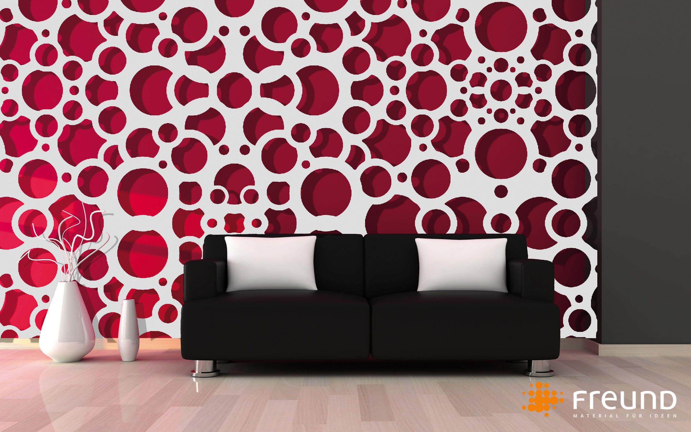 mdf decorative panel wall mounted 3d organic modular wall