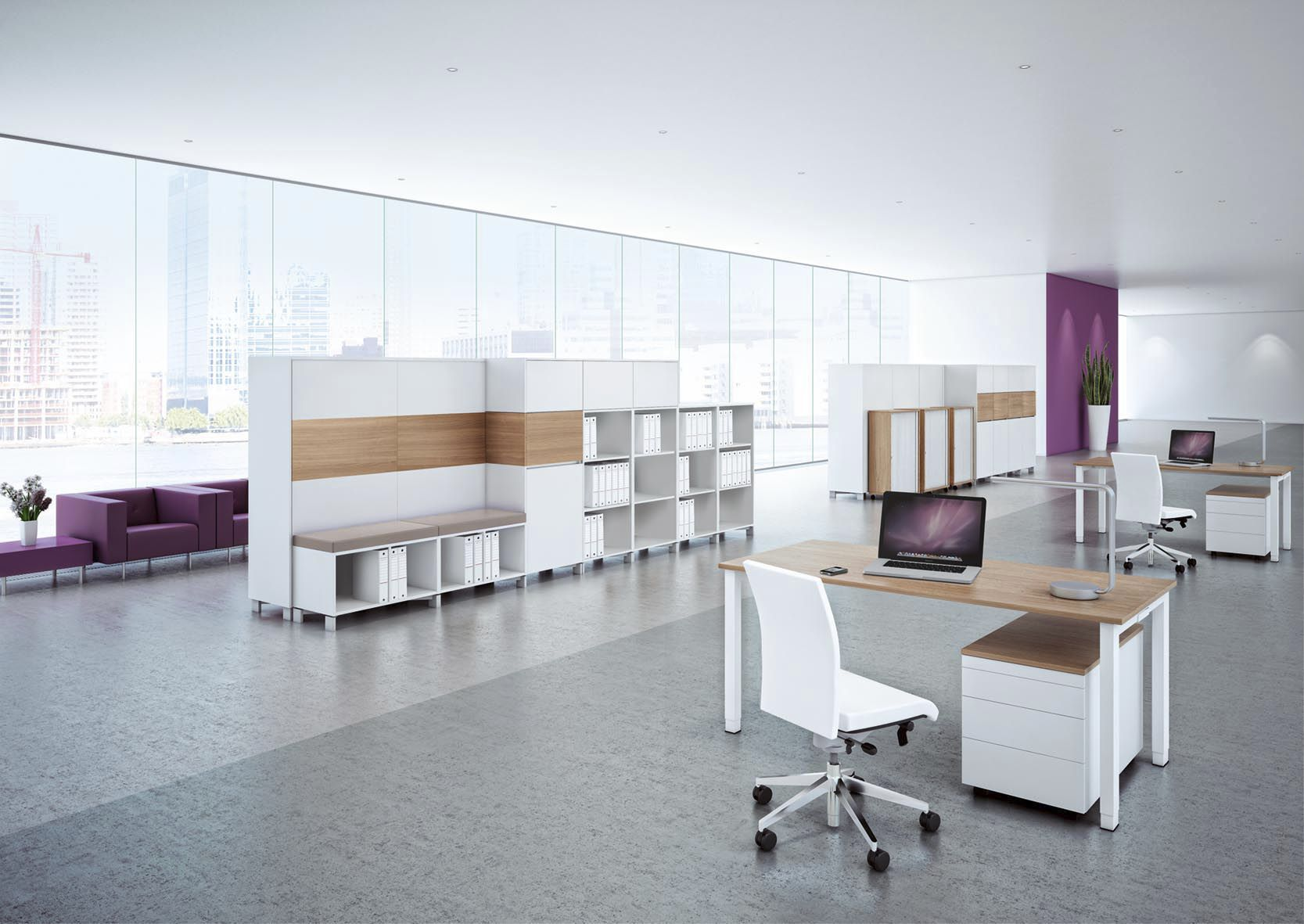 Modular bookcase / contemporary / for offices / wooden - INTAVIS ...