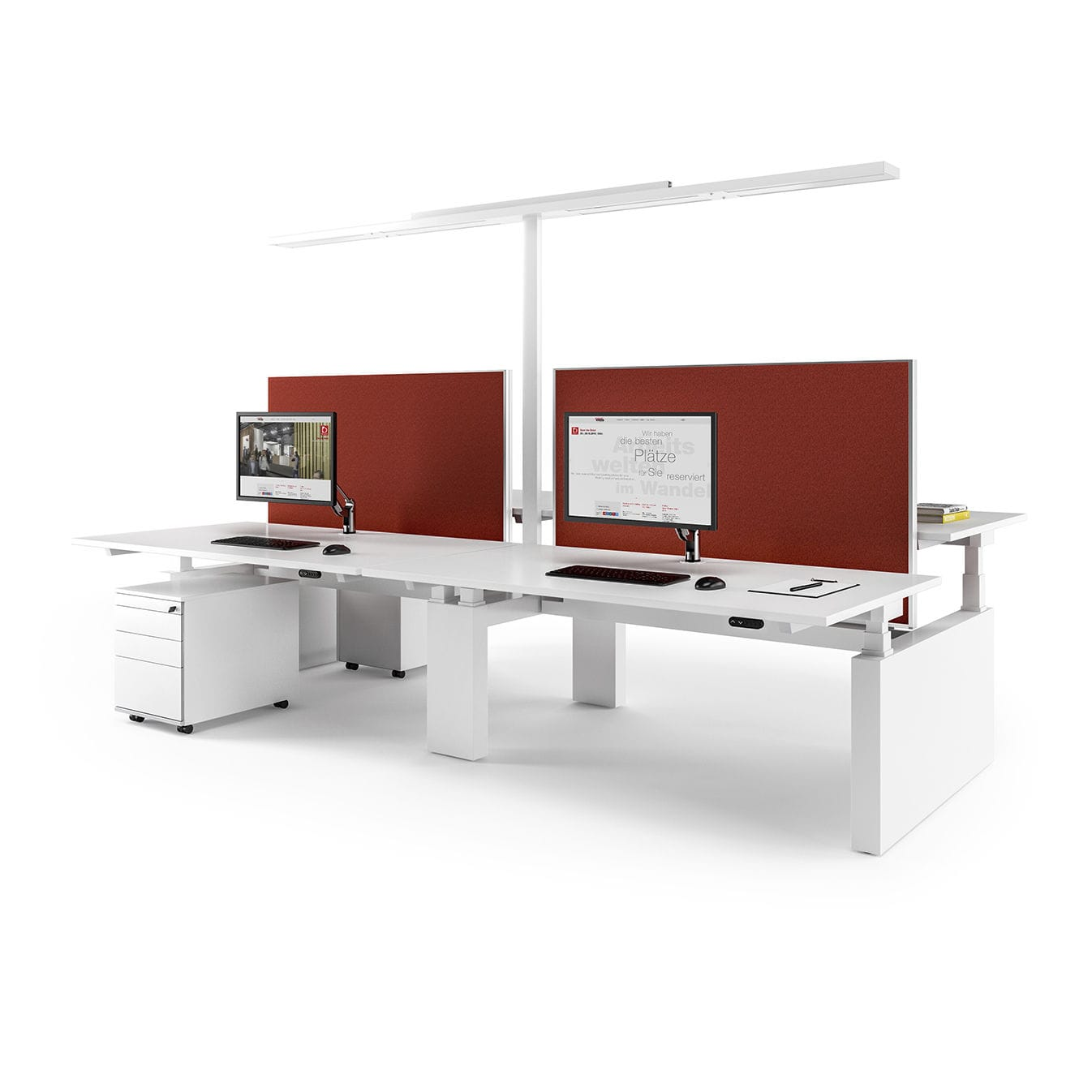 Workstation desk / wooden / contemporary / commercial - CANVARO ...