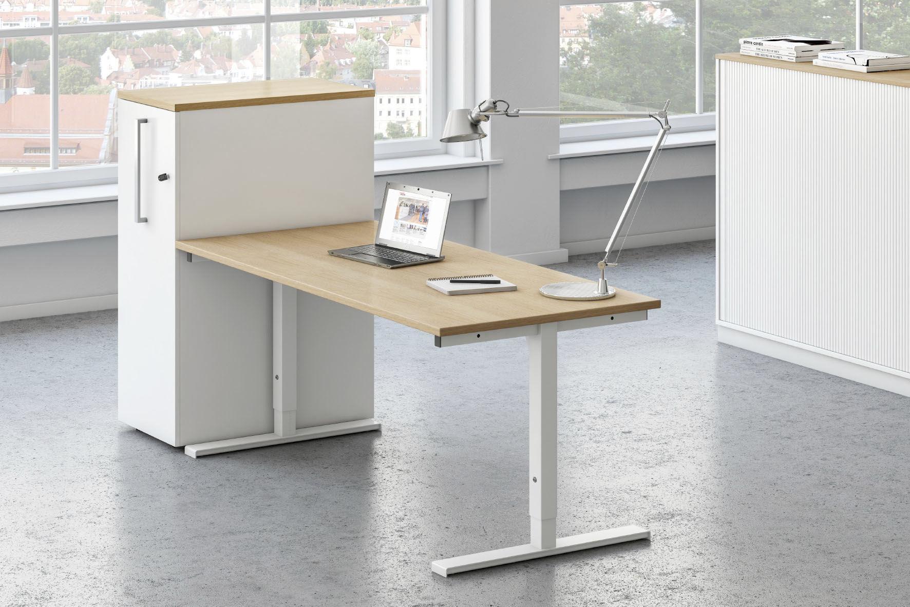 Metal desk / melamine / contemporary / commercial - SYMPAS - ASSMANN ...