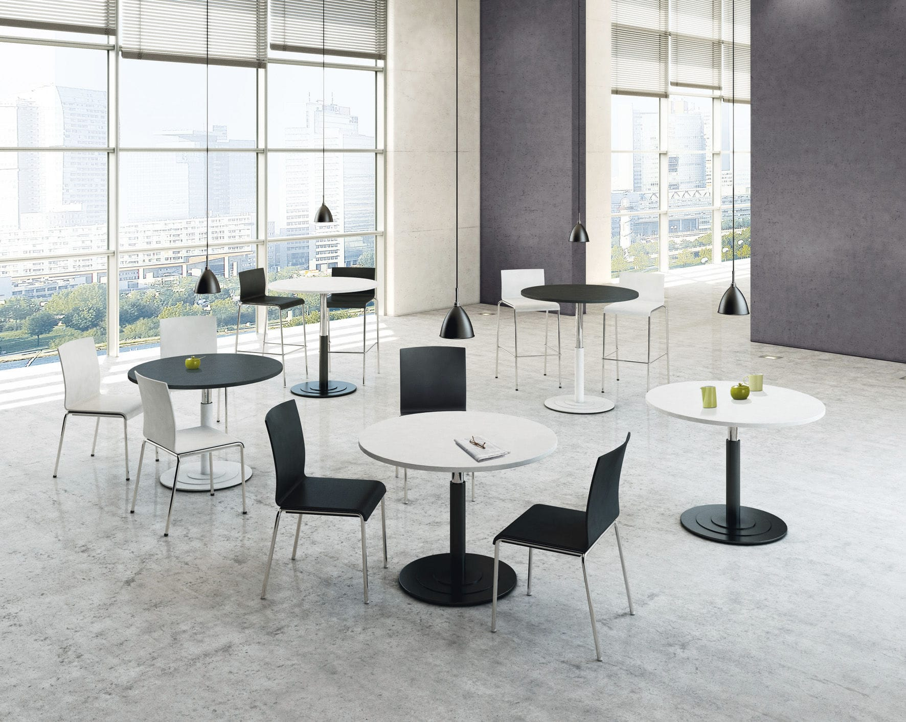 Contemporary conference table / wooden / round / modular - PONTIS ...