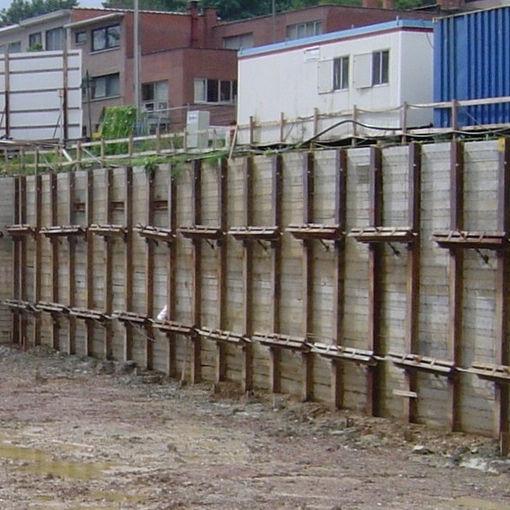 Metal Sheeting For Walls soldier-pile sheet pile / wooden / metal - berliner wall - franki